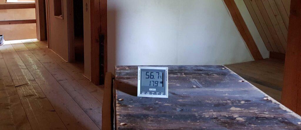 Umbau Schloss Temperatur Feuchtigkeit