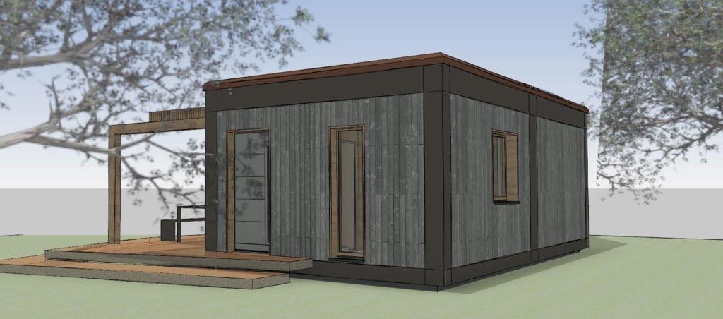 Tiny House Sicht Eingang