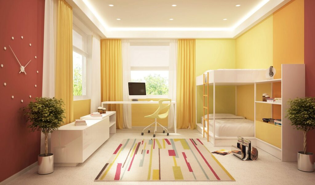 Raumgestaltung und Farben