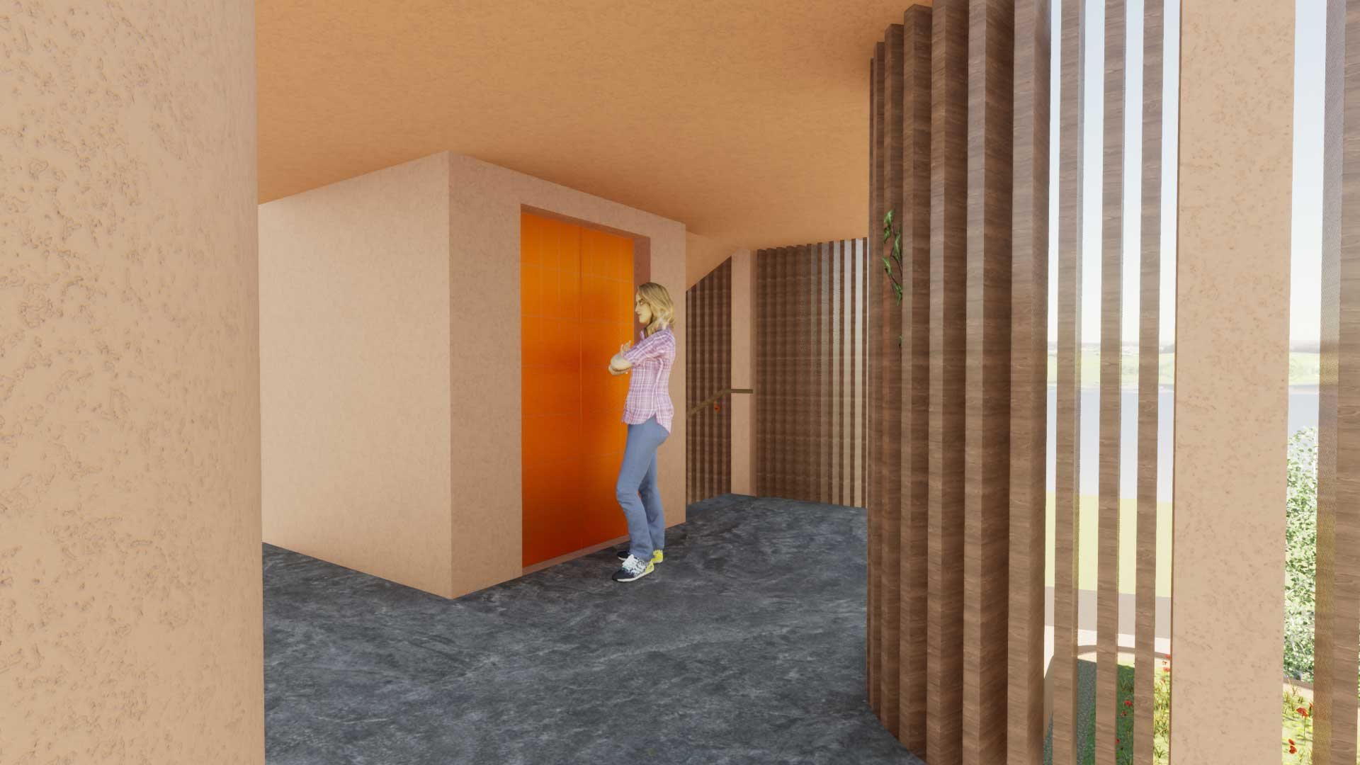 Treppenhaus mit Lift