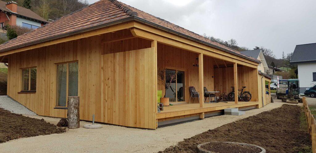 Holzhaus noch in der Abschlussphase