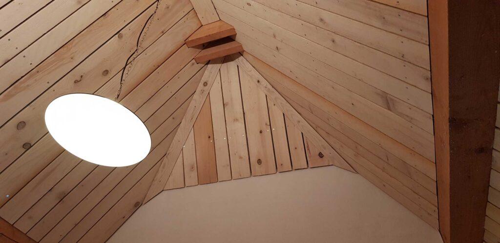 Eckdetail im Dachgeschoss